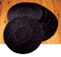 Large Non-Woven Pads - 16 X 1/4 - BLACK MAGIC - Floor Sanding - Black Magic Floor Prep Pads