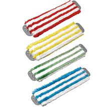 Color coded microfiber mops