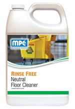 A totally synthetic floor cleaner designed for daily use in any floor maintenance program. It's neutral pH will not damage the gloss or film of any finish after using. Controlled foam makes this product ideal for use in automatic scrubbers. Will dissolve all ice melt and hard water films, and never leave the floor with a soap haze.